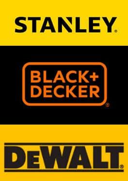 Stanley Black Decker and DeWalt Logos Side by Side