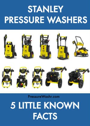 Stanley Pressure Washers Intro Image