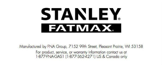 Stanley Pressure Washers are Serviced by FNA Group Customer Support