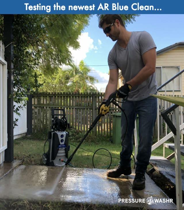 Testing Newest AR Blue Clean Pressure Washer