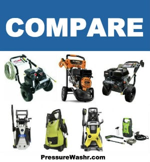 Compare 7 Best Pressure Washers Collage