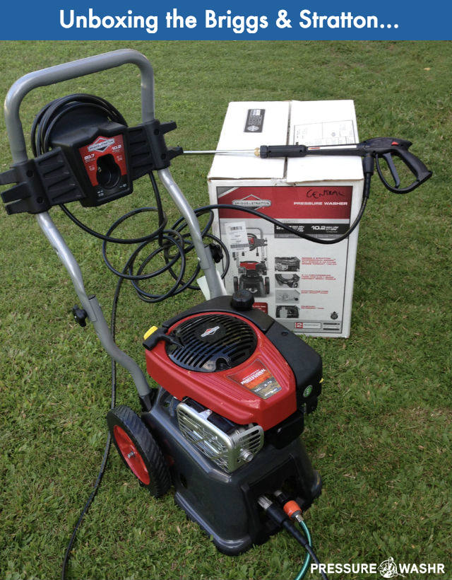 Unboxing Briggs and Stratton Gas Pressure Washer