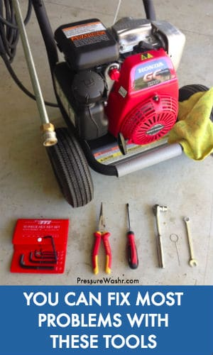 Pressure Washer Troubleshooting Tools You Need