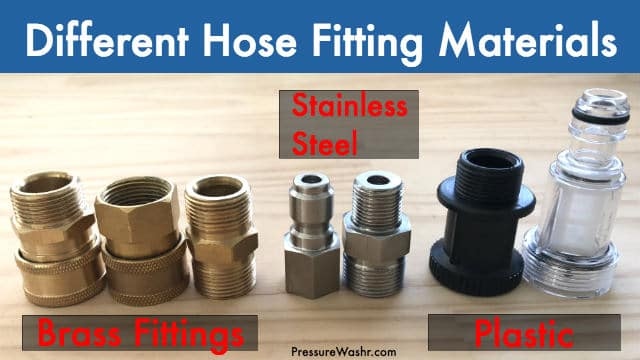 Different Pressure Washer Hose Fitting Materials