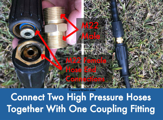 M22 male hose connector coupling fitting to extend hose length