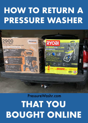How to return a pressure washer