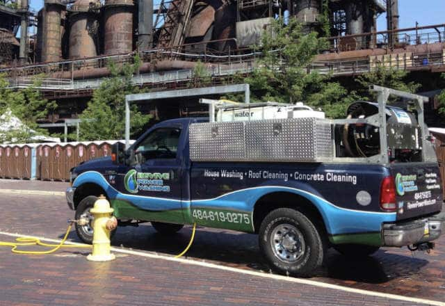 Revive Power Washing Work Truck