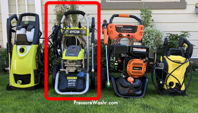 Ryobi electric compared to other pressure washers