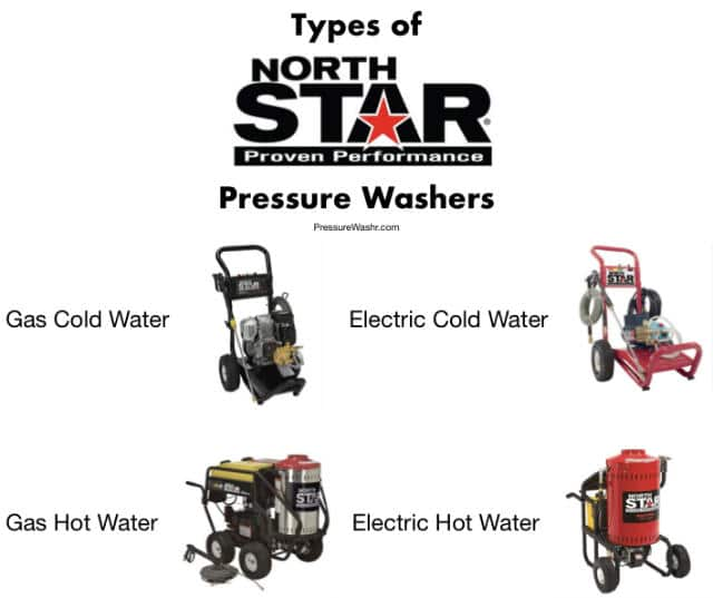 Types of North Star Pressure Washers
