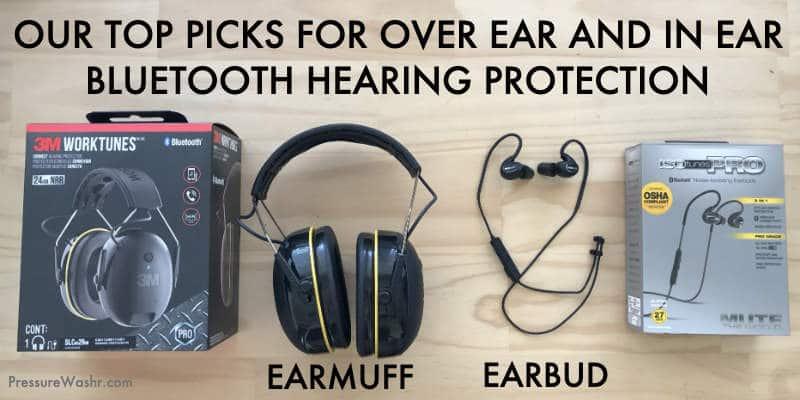 Earbud vs earmuff bluetooth hearing protection headphones