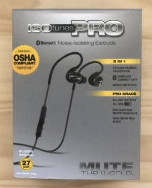 ISOtunes pro noise isolating earbuds