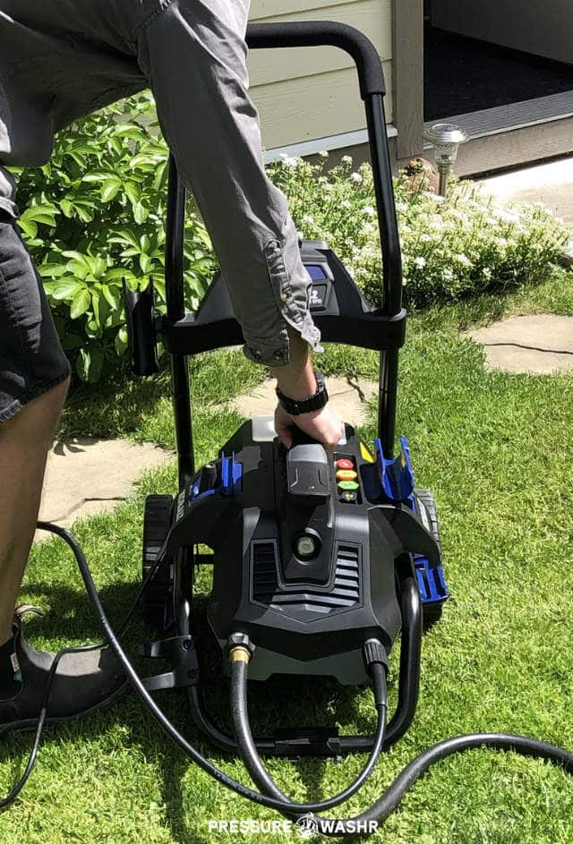 AR Blue Clean AR2N1 Electric Pressure Washer In Carry Cart