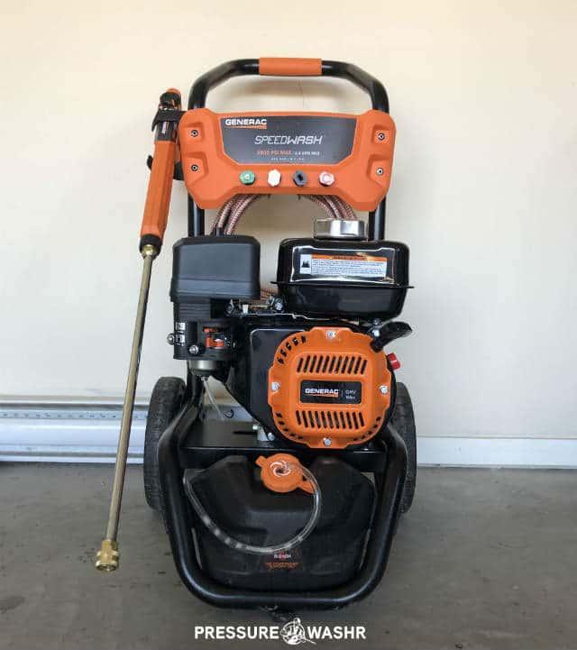 Generac Speedwash Gas Pressure Washer Front View With Logo