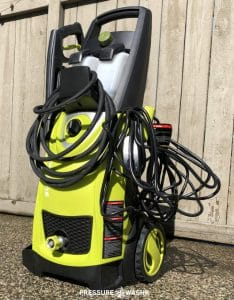 Sun Joe SPX3000 Electric Pressure Washer Cord Storage With Logo