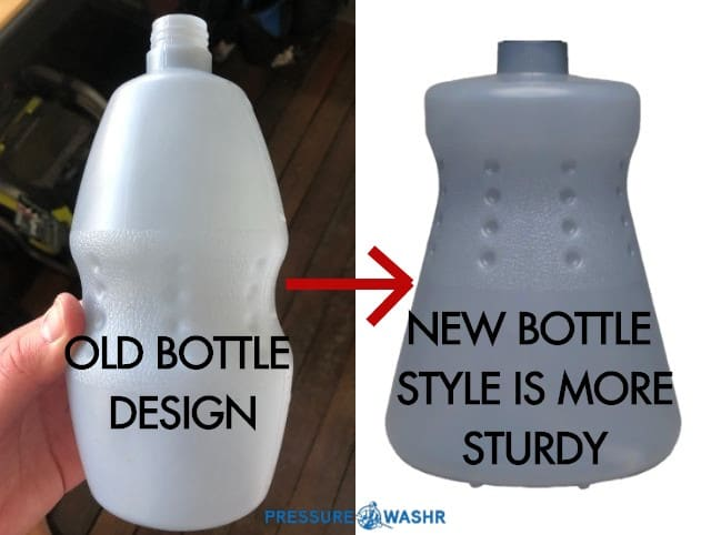 Comparison OLD vs NEW MTM Foam Cannon Bottle