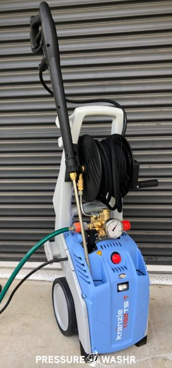 Kranzle 1122TST hooked up to hose
