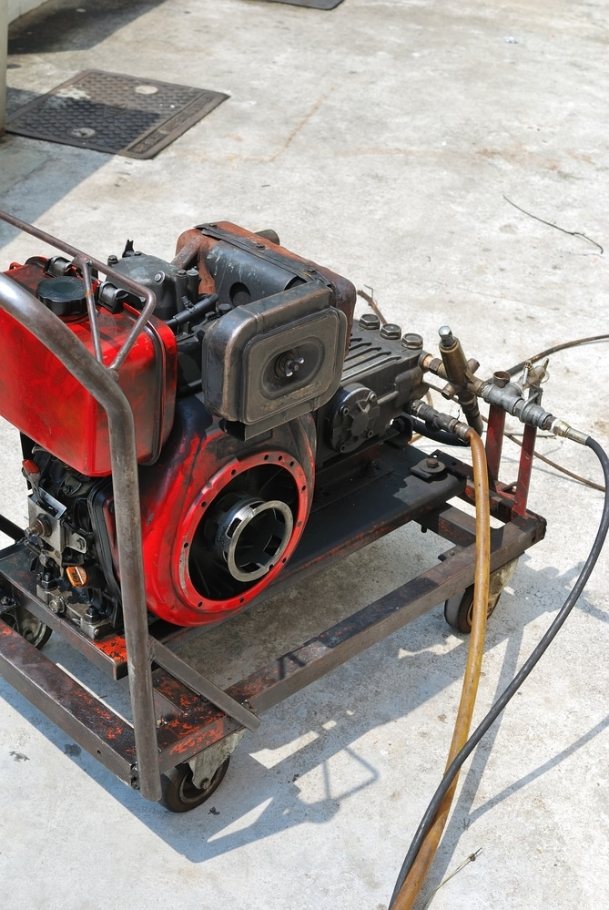 Commercial sewer cleaning equipment