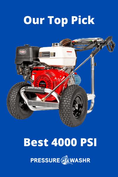 best 4000psi pressure washer