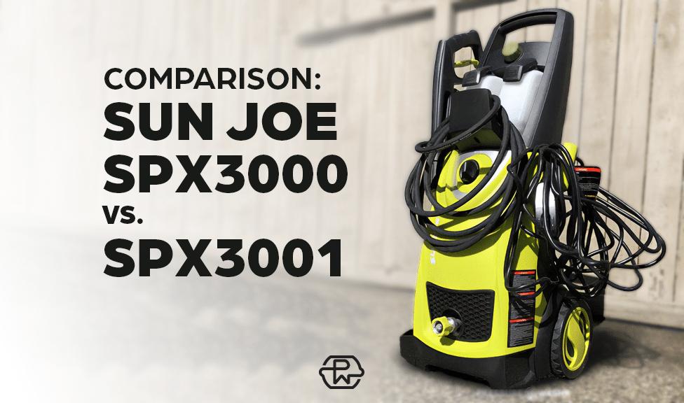 Sun Joe SPX3000 vs SPX3001: Model Comparison