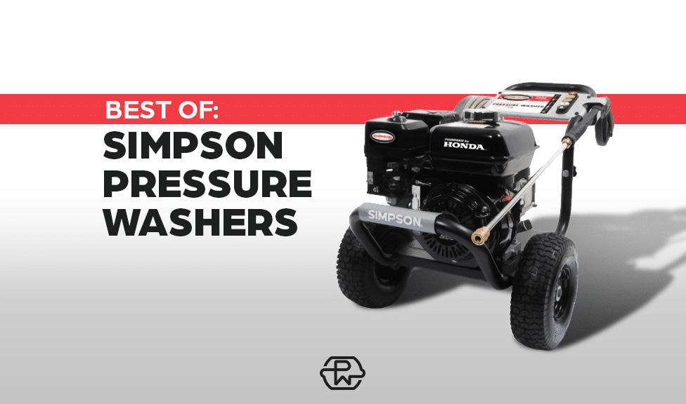 best simpson pressure washers
